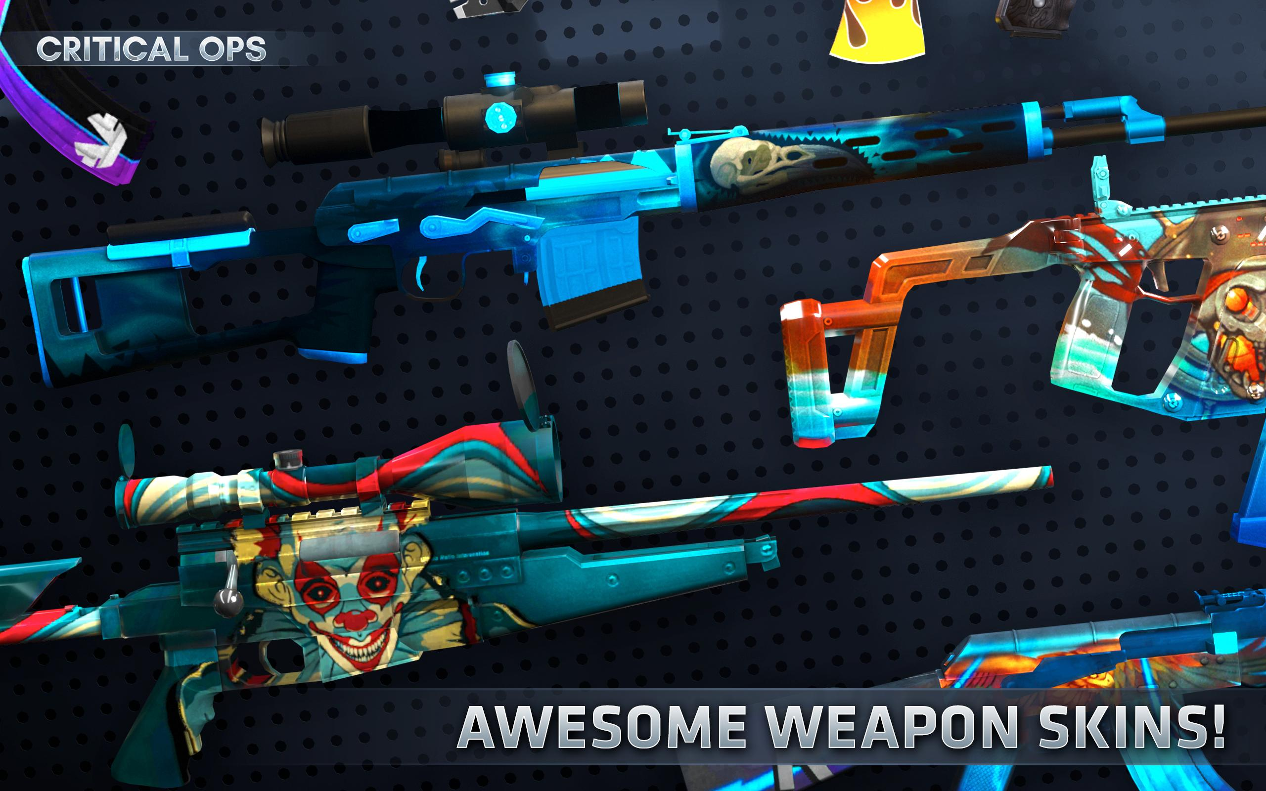 Critical Ops Weapons